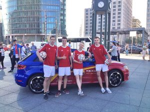 Fußball-Freestyler Audi Promotion Champions-League Finale Berlin 2015