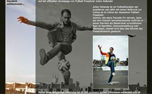 Partner_Fußballkünstler Julian Hollands