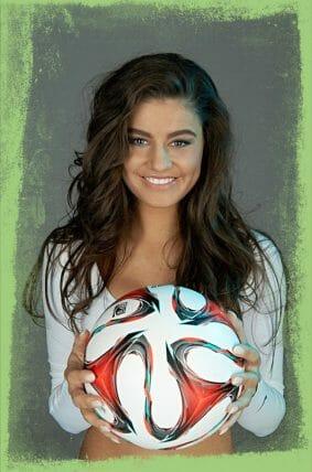 Fußball-Freestyle Girl Adriana Orlovic aus Düsseldorf