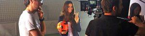 Fußball-Freestyle Girl Adriana Orlovic_Shooting jonglieren