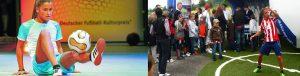 Fußball-Freestyle Girl Aylin Yaren_Fußballshow Allianz Fans am Ball