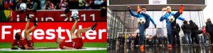 Fußball-Freestyler Nina Windmüller_Tommy Rist_Audi Cup_Deutsches Fußballmuseum