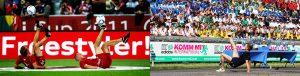 Ballkünstler Tommy Rist_Allianz Arena Audi Cup